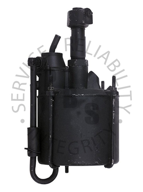 """2500397, Hydrovac, Third Series, Single Piston Type  6-3/4"""" Diameter, 14-3/4"""" Over All Length 1/2"""" Input, 1/2"""" Output, Integral Air Cleaner, 3/8"""" Vacuum Supply"""