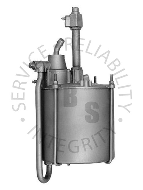 """2501029, Hydrovac, Third Series, Single Piston Type  9-1/"""" Diameter, 23-5/16"""" Over All Length 1/2"""" Input, 1/2"""" Output, 3/4"""" Air Cleaner Tube, 1/2"""" Vacuum Supply"""