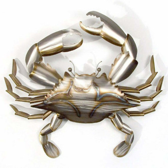 Extra Large Stainless Crab Metal Wall Sculpture MM151