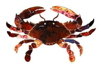 Crab Red - 3D Metal Wall Art