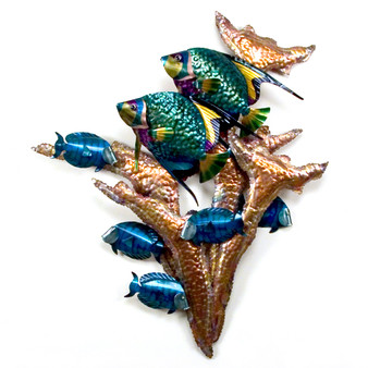 Angelfish Copper Wall Art