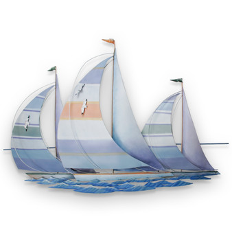 Regatta - Metal Sailboats Wall Art