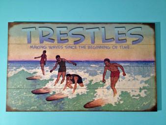 Trestles Beach Vintage Surfing Sign