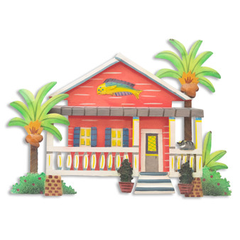 Caribbean Cottage - Metal Wall Art - OS426