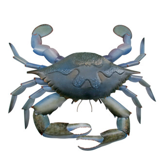 Blue Claw Crab Metal Wall Art