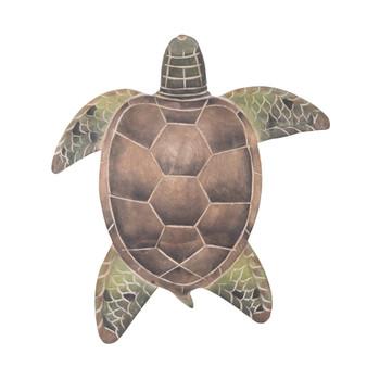 Sea Turtle Hand Carved Wood