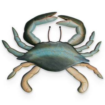 Blue Crab - Hand Carved Wooden Crab