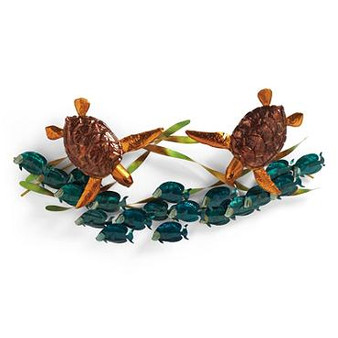 Sea Turtle Frolic Coastal Wall Art