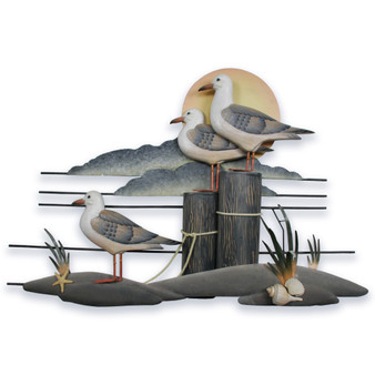 Seagull Trio Wall Sculpture