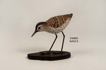 Sandpiper Feeding Table Top Sculpture