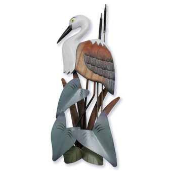 Heron Small Wood Wall Sculpture