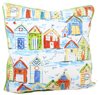 "CARIBBEAN VILLAGE PILLOW 18 X 18"" LAVA PILLOWS"