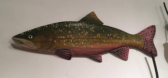 Brook Trout Wall Wood Carving