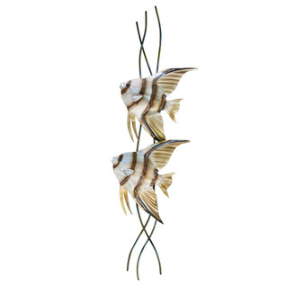 Angelfish Pair Vertical Facing Left