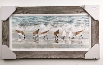 """Sandpipers on Beach Painting FD46973 43x23"""""""