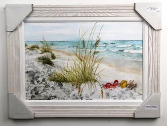 "Flip Flops on the Beach Painting FD24016 30""x 22"""
