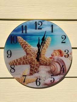 Glass Shell Clock Wall