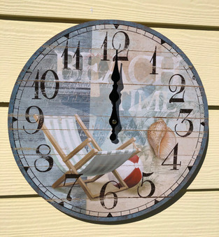 Beach Chair Wall Clock 13.5""