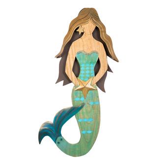 Vertical Antique Mermaid C518
