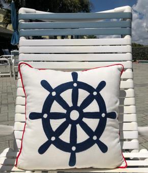 Wheel House Pillow Indoor Style 18 x 18