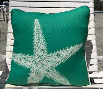 Kauai Starfish Pillow Outdoor Style 18 x 18