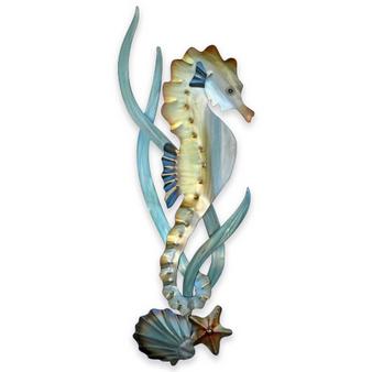Metal Wall Seahorse Facing Right CO160