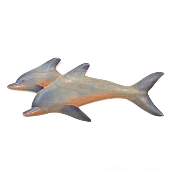 Wood Dolphins - Wall Sculpture