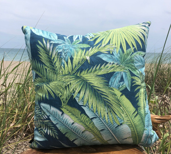 MAUI LEAF PILLOW INDOOR/OUTDOOR FABRIC