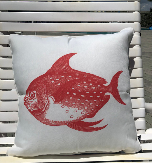 Red Fish Indoor/Patio Style  Pillow 18 x 18