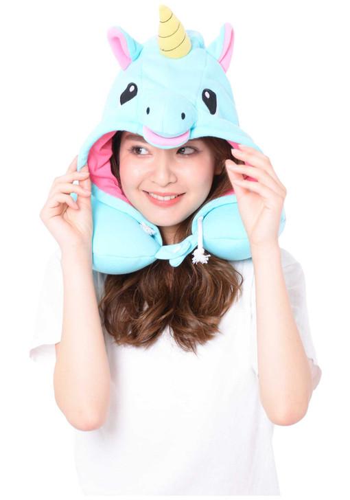 Blue Unicorn Neck Support Pillow