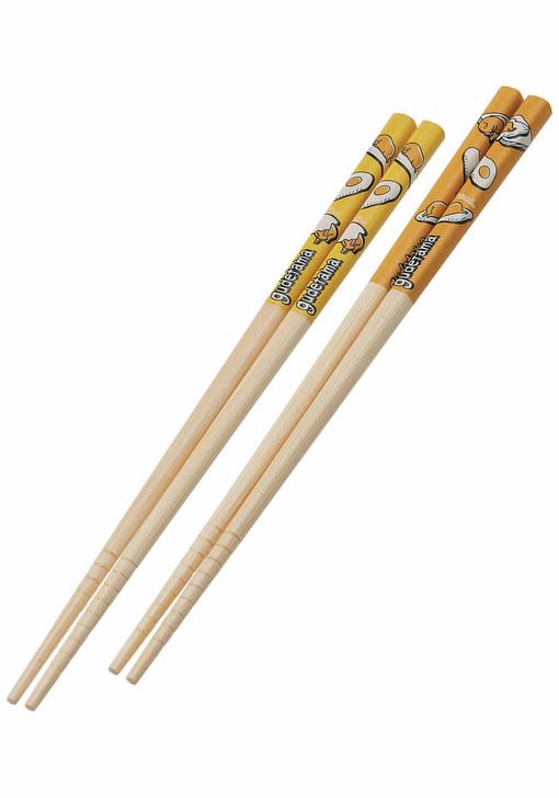 Sanrio Gudetama Bamboo Anti-Slip Grip Chopsticks 2pcs Set #A