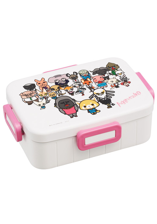 Sanrio Aggretsuko Bento Lunch Box Container with Secure 4-Point Locking Lid