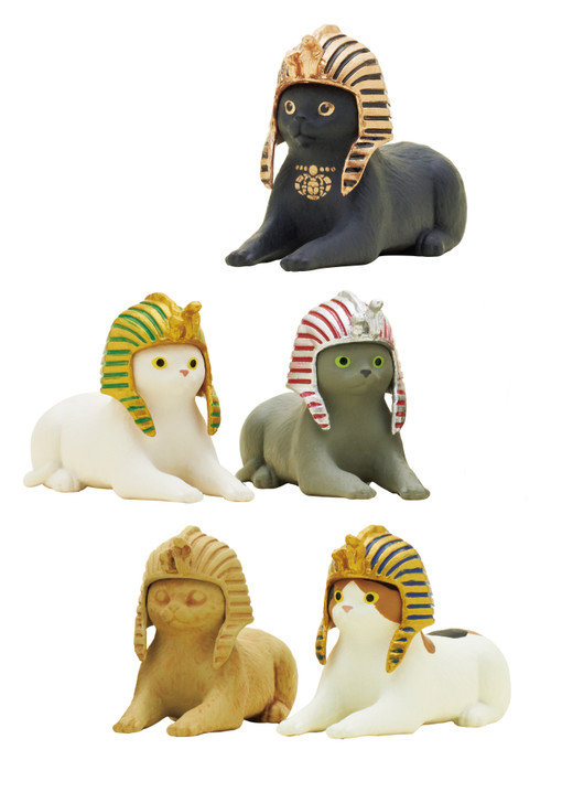 Cat Pharaoh Figure Blind Box Includes 1 of 5 Collectible Figurines