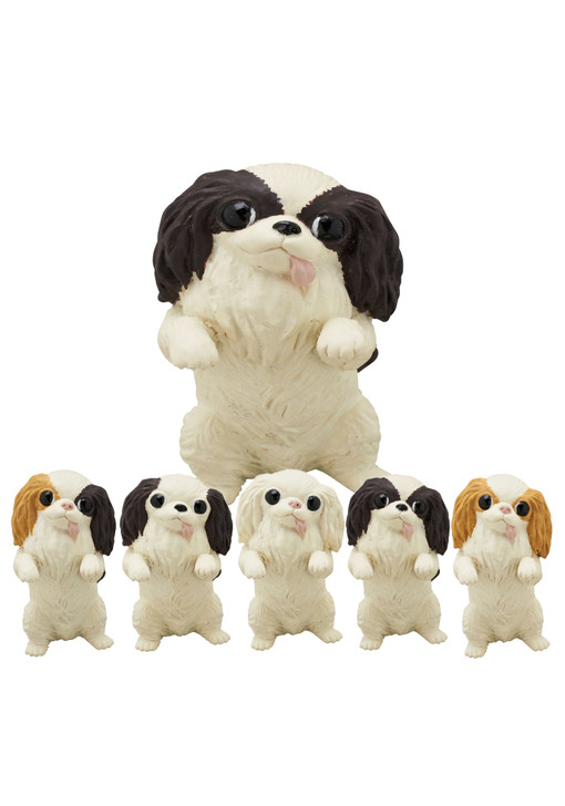 Japanese Chin Dog Blind Box Includes 1 of 5 Collectible Figurines