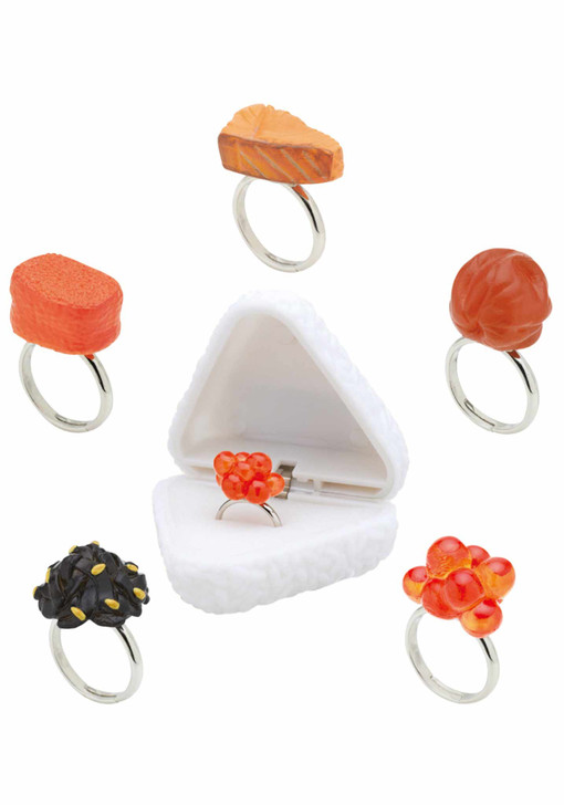Onigiring (Riceball Ring) Blind Box Includes 1 of 5 Collectible Rings