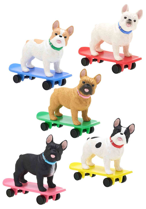 Skateboarding Dog Box Includes 1 of 5 Collectible Figurines
