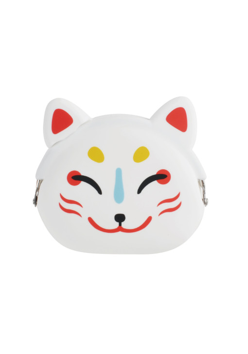 Mimi Pochi Japan Kitsune-Men (Fox Face) - Silicone Coin Purse