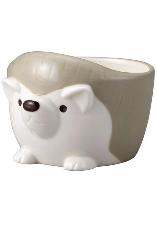 Hedgehog Grey Ceramic Bowl 8 oz