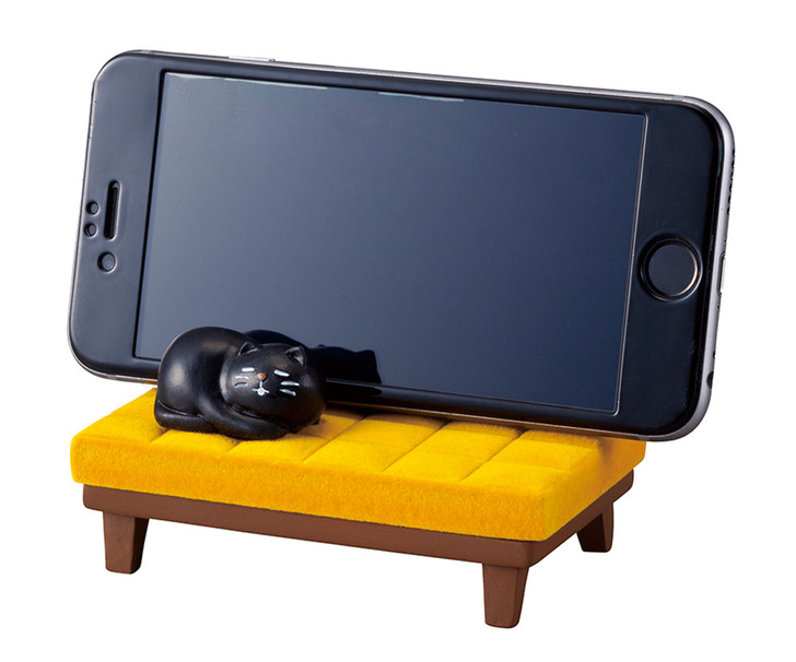 Napping Cat Cellphone Stand Holder for Desk (Yellow)