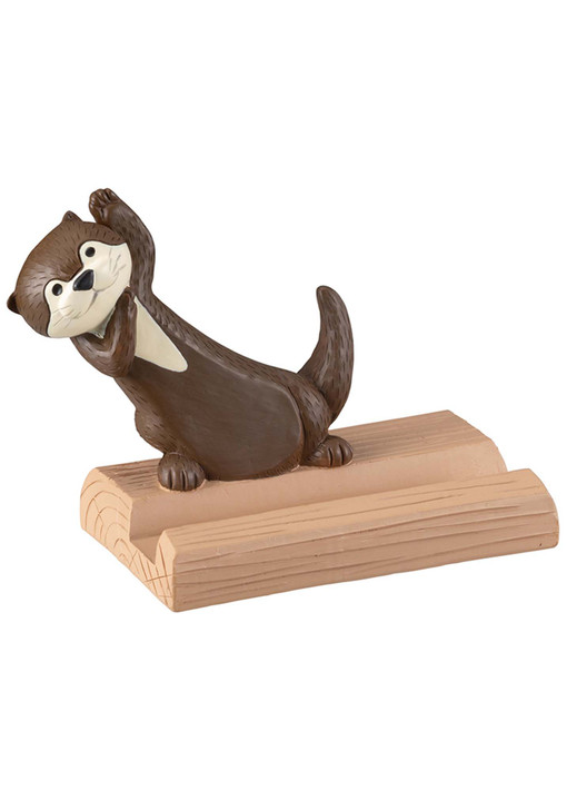 Sea Otter Cellphone Stand holder for Desk (Chocolate)