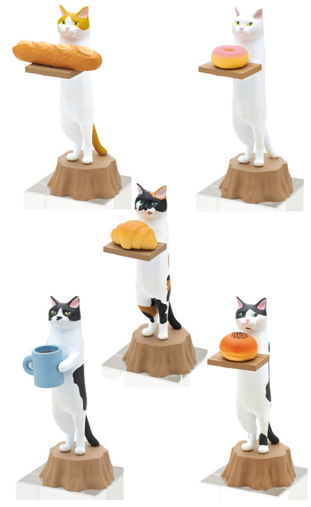 Cat Bakery Blind Box Includes 1 of 5 Collectible Figurines