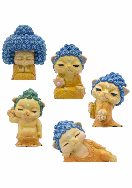 Buddha Cat Blind Box Includes 1 of 5 Collectible Figurines