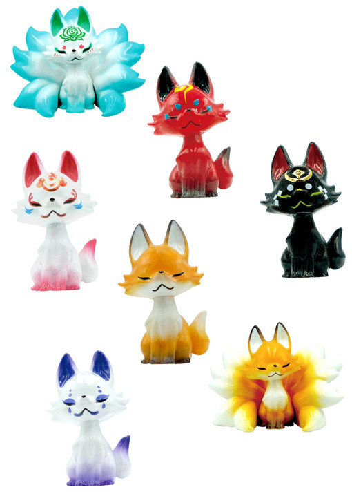 Tsubomi Fox Blind Box Includes 1 of 7 Collectible Figurines