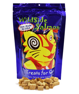 WildSide Wild Alaskan Freeze Dried Salmon All Natural Grain Free Snack Treats for Cats 3oz