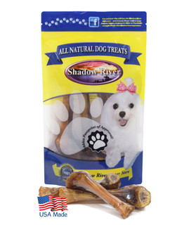 Shadow River Lamb Shank Bones For Small Dogs - 8 Pack Petite Size Premium All Natural Chew Treats