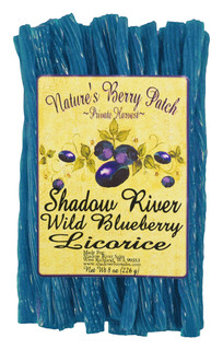 Shadow River Gourmet Wild Blueberry Licorice Candy - Old Fashioned Classic Colorful Blue Candy Twists