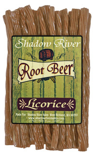 Shadow River Gourmet Root Beer Licorice Candy - Old Fashioned Classic Root Beer Soda Flavored Candy Twists