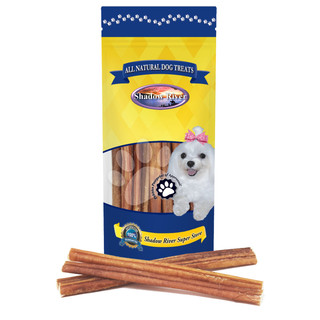 Shadow River REGULAR 12 Inch 100% USDA Approved Beef Bully Sticks for Medium Dogs - Low Odor All Natural Premium Long Lasting Healthy Dog Chews, No Rawhide Grass Fed Grain Free Treats