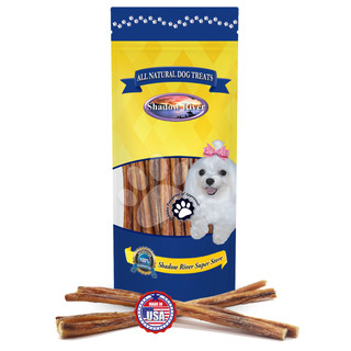 Shadow River REGULAR 12 Inch Made in USA 100% Beef Steer Sticks for Medium Dogs, No Rawhide Bully Bones Healthy Dog Treats, All Natural Grass Fed Grain Free Long Lasting Chews