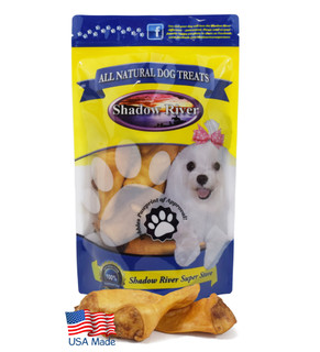 Shadow River Hickory Smoked Made in USA Lamb Ear Chews For Dogs - Grain Free Premium All Natural Dog Treats - 25 Pack Regular Size Ears